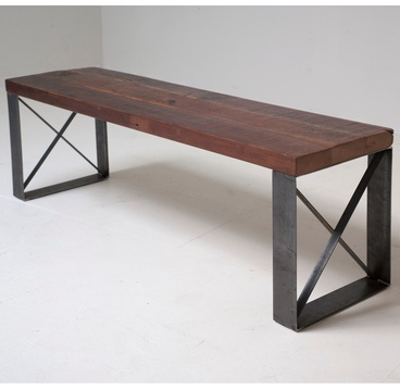 Sleek Modern Industrial Reclaimed Bench / Coffee table