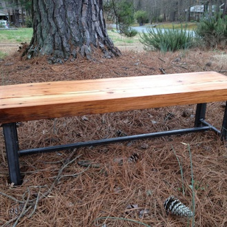 Reclaimed wood benches