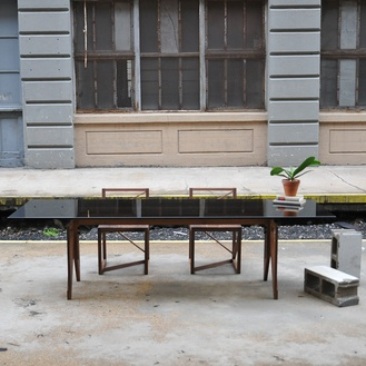 Adjustable Dining Table with Easel Base