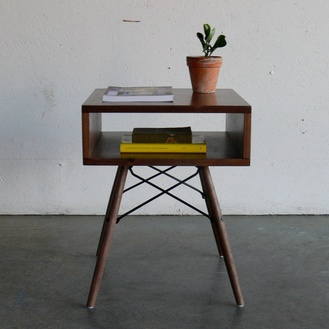 Side Table with Eames Inspired Base