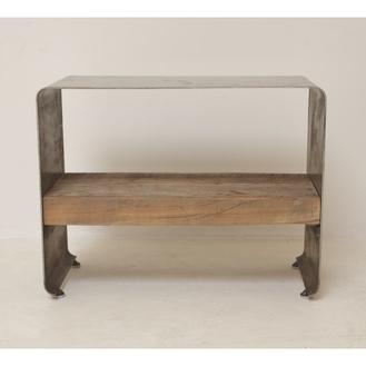Low Profile Steel Side Table