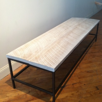 Coffee Table in Whitewashed Finish