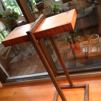 Wine glass side table